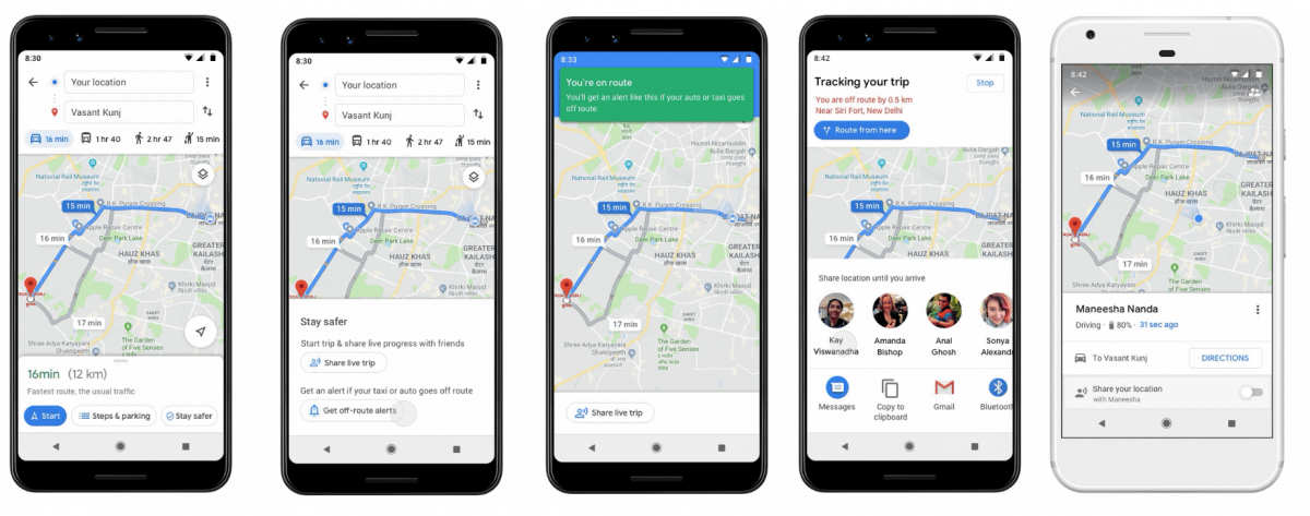 Google map launches 'Stay Safer' feature in India.