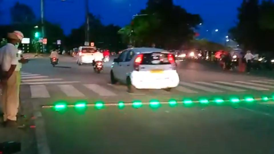 Hyderabad Police Install LED Strip Light At Signals