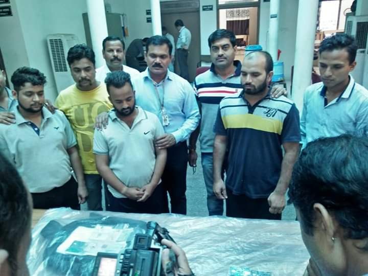 Gang arrested by state cyber cell indore for a fraud in the name of insurance.