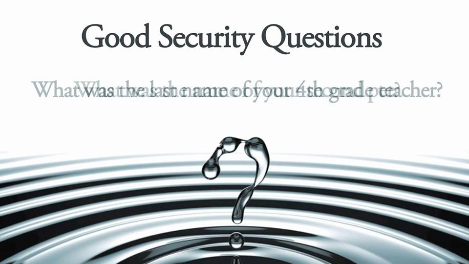 How Secure Are Your Security Questions???