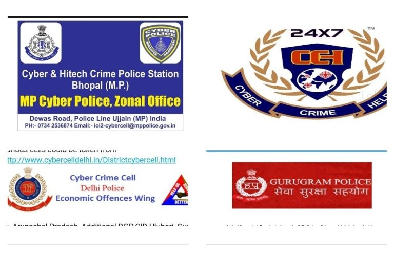Cyber Cell Police Station In India – State Wise