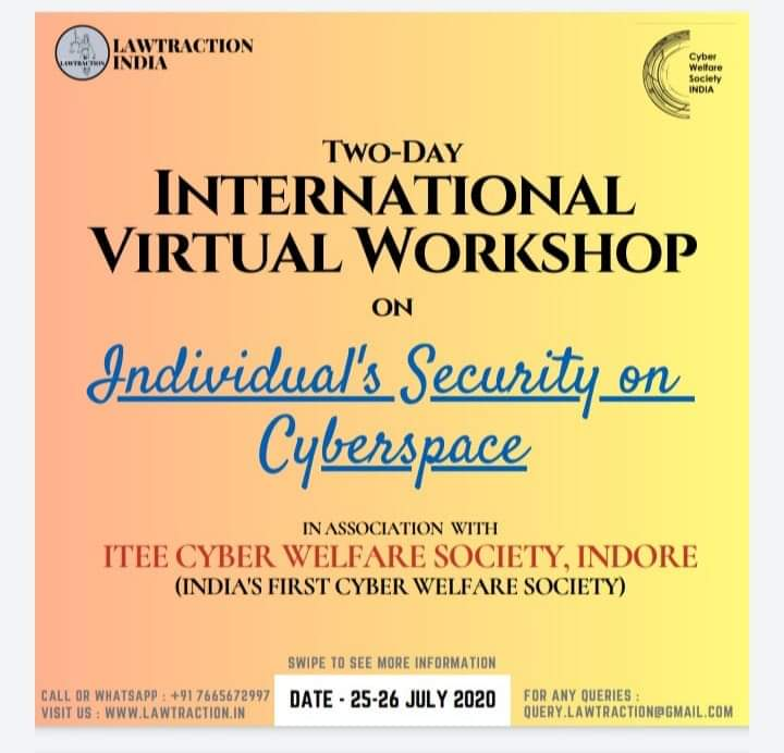 Two day International Workshop -Individual Security on cyberspace